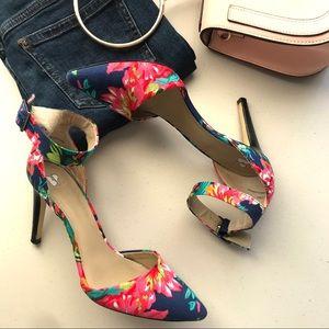 B.P. Ankle floral heels Pumps